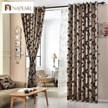 European jacquard curtains kitchen door balcony curtains fabrics for window shade panel modern curtain living room(China)