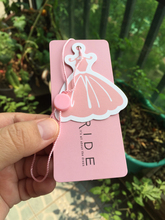 free shipping custom logo name brand garment baby clothing/jeans/hairs paper price tags, personality design hang tag UPH40(China)