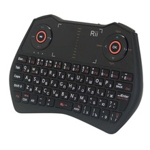 Original Rii Mini i28 Russian Wireless Keyboard 2.4G Backlit Slim Keyboards With Air Mouse Touchpad For PC Smart Android TV Box(China)
