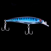 Brand Fishing Lure Wobbler Laser Minnow 6# Feather hook Plastic Artificial hard lure Lifelike bait  10 colors 11cm/13g