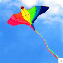 free shipping high quality large kites flying rainbow phoenix kite with handle line ripstop nylon outdoor toys weifang kite new(China)