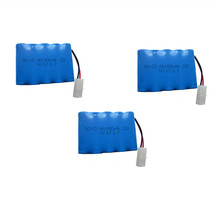 3pc Brand 12v 1400mah battery ni-cd 12v aa nicd batteries battery pack ni cd rechargeable 10x aa for RC boat model car toys tank(China)