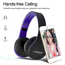 Andoer LH-811 Stereo Bluetooth Headphones Wireless Headset Wired Bluetooth Earphone MP3 Player TF Slot FM Radio Hands-free Mic