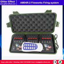Hot sale 1 remote control 4 cues of 3 receiver Stage indoor fountain pyrotechnic Igniter Fireworks firing system machine
