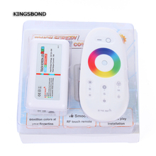 Freeshipping Wireless Intuitive 2.4G RF Touch Screen Remote LED full color controler Suitable for LED Strip Light 640000 Colors