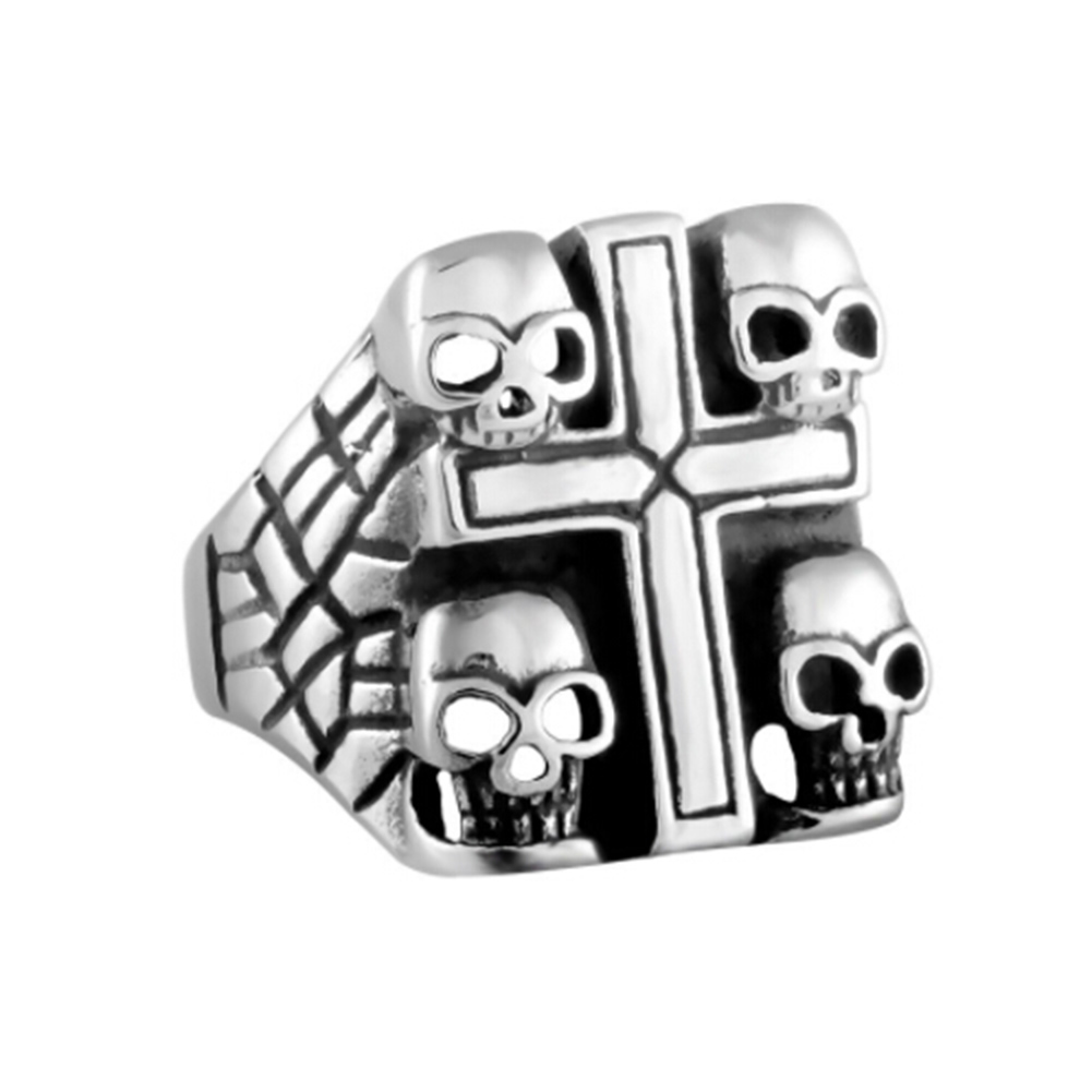 design skeleton skull finger men punk women ring product for pave black retro party gothic bands rings silver color vintage cz evil