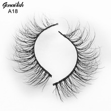 Genailish Mink Lashes 3D Mink Eyelashes Handmade Natural Super Quality False Eyelashes 1 pair Fake Eye Lash for Makeup-A18(China)