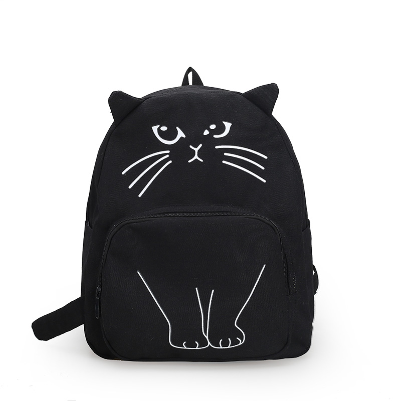 Cute cartoon cat printing backpack The animal prints school bag for teenage girls Personality whimsy womens fashion leisure bag<br><br>Aliexpress
