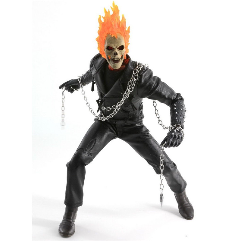 1:6 Scale Ghost Rider Nicolas Cage figure LED light Function Collectible Action Figure <br><br>Aliexpress