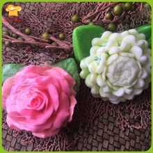 LXYY new 3D silicon rose soap mold mold Jasmine candle flowers blooming Soft Silicone Tools Free Shipping(China)