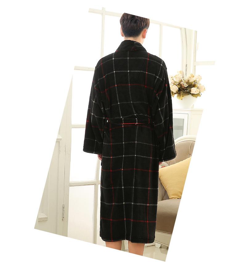 black red plaid robes men (5)