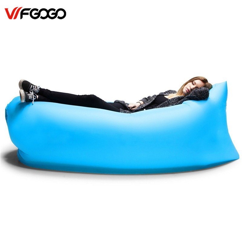 WFGOGO Lazy bag Fast Inflatable Sofa Outdoor Air Sofa Sleeping bag Couch Portable Furniture Living Room Sofas for Summer Campin(China (Mainland))