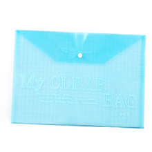 NHBR 5 in 1 A4 Stud Plastic Popper Files Folders Document Wallet Office Depot Study(China)