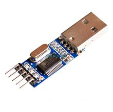 1pcs USB to TTL / USB-TTL / STC microcontroller programmer / PL2303 in nine upgrades plate with a transparent cover
