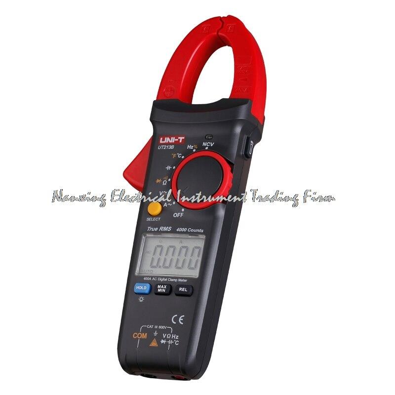 UNI-T UT213B 400A Digital Clamp Meters Voltage Resistance Capacitance Multimeter Temperature Auto Range trueRMS<br>