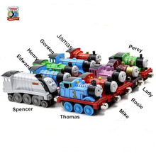 New 10PCS Thomas Alloy Tains Toy Diecast Metal Thomas And Friends Train Toy Magnetic Models Toys For Kids Children Gifts(China)