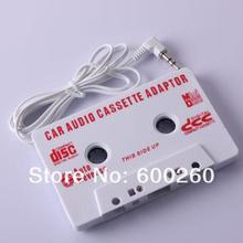 1Pc New White Car Cassette Tape Adapter Player for MD/nano/CD/video/iPod/MP #9541