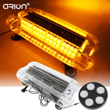 Mini Lightbar 12V 24V 57cm 80 LED Emergency LightBar Flashing Light Waterproof Magnet LightBar Warning LED Light(China)