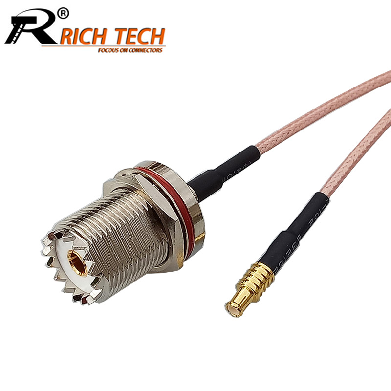 10pcs/lot UHF Female Jack to MCX Straight Male Plug RG316 Pigtail Cable MCX to UHF Adapter RF Coaxial Cable 15CM/50CM/100CM <br>