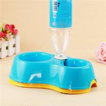 Pet Animal Water Food Cookies Food Dish Dog Cat Automatic Bowl Dispenser Feeder