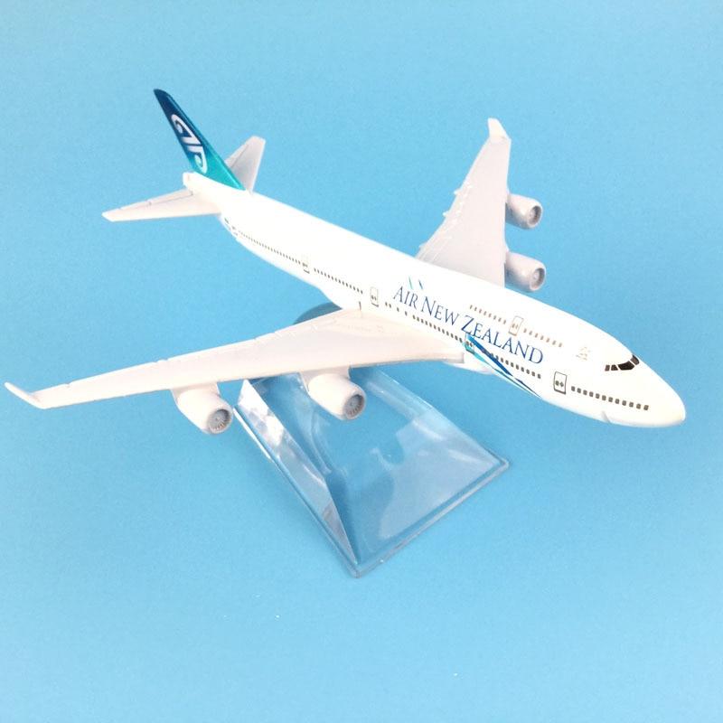 16CM BOEING 747 JUMBO JET AIR NEW ZEALAND AIRLINE METAL PLANE MODEL AEROPLANE