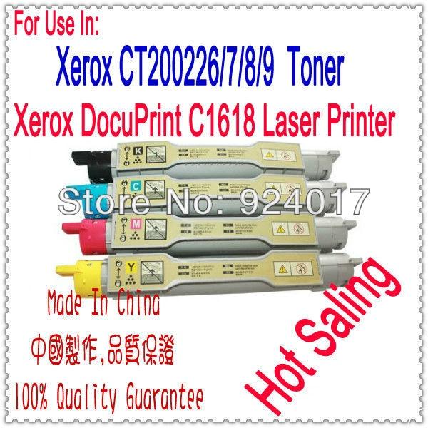Reset Toner For Xerox DocuPrint C1618 Color Printer,For Xerox CT200226 CT200227 CT200228 CT200229 1618 Refill Toner Cartridge <br><br>Aliexpress