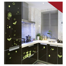 Glow Wall Stickers Decal Baby Kids Bedroom Home Decor Color Stars Luminous Fluorescent Wall Stickers Cartoon Small Castle DIY