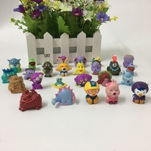 Hot selling 20 Pcs/lot PVC Size 3cm Cartoon Figure Animal SQUINKIES Toys Mixed Lot In Random NO CONTAINERS(China)