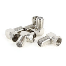UXCELL Pack Size(L*W*H) 5 Pcs F Type Female To Male F/M Adapter Right Angled Rf Coaxial Cable Connectors 10 | 14 | 5 | x