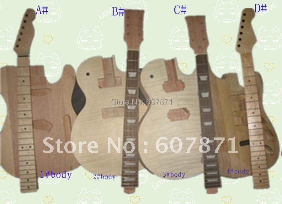 1set New high quality Unfinished electric  guitar neck+ body<br><br>Aliexpress