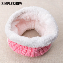2017 New Fashion Winter Scarf For Women Men Knitted Baby Scarf Thickened Wool Collar Scarves Boys Girls Neck Warm Cotton Unisex