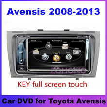 DVD player for toyota avensis 2008 2009 2010 2011 2012 2013 Car DVD GPS with Radio TV Bluetooth Audio Video Stereo System Map