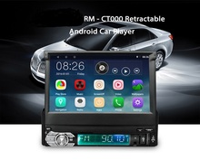 7 inch 1 Din Retractable Touch Screen Car MP5 Player GPS Navigation Android 6.0 Car Radio Player GPS Support Steering-wheel Wifi