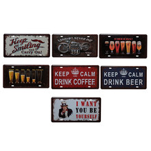 Vintage Metal Tin Sign Keep Calm Drink Beer  Retro Plaque Poster Bar Pub Club Wall Tavern Garage Home Decor 15*30cm   1pcs 2016