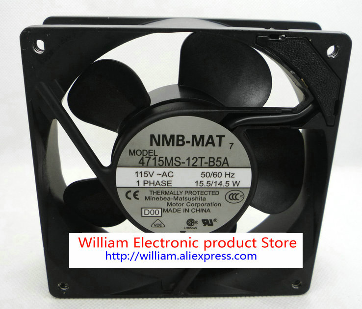 Original NMB 120*120*38MM 12cm AC115v 15.5w 14.5w 4715MS-12T-B5A cooling fan<br>