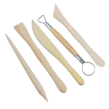 Buy Practical 5Pcs Wooden Pottery Clay Sculpture Carving Tool Set for $1.14 in AliExpress store