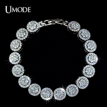 UMODE Hand-set Micro Inlay Craft AAA+ CZ Cubic Zirconia Bijouterie Studded Bracelet for women UB0007(China)