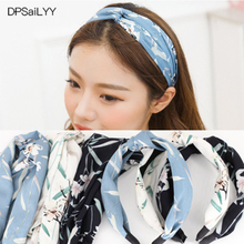 DPSaiLYY 3 PC Hot Sale Know Headband Hairband Sport for Adults Cotton Floral Fabric Knotted Headwear Hair Accessories for Women(China)