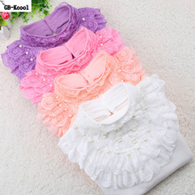 Autumn Winter 2017 Kids Clothes Children Turtleneck Shirt Fashion White Long-sleeved Funny t-shirt Student Girls Lace Tops(China)
