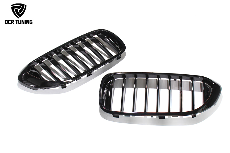 Brand New Gloss Black M-Color Front Double Line Grille Grill For BMW G30 G38 2018 (3)