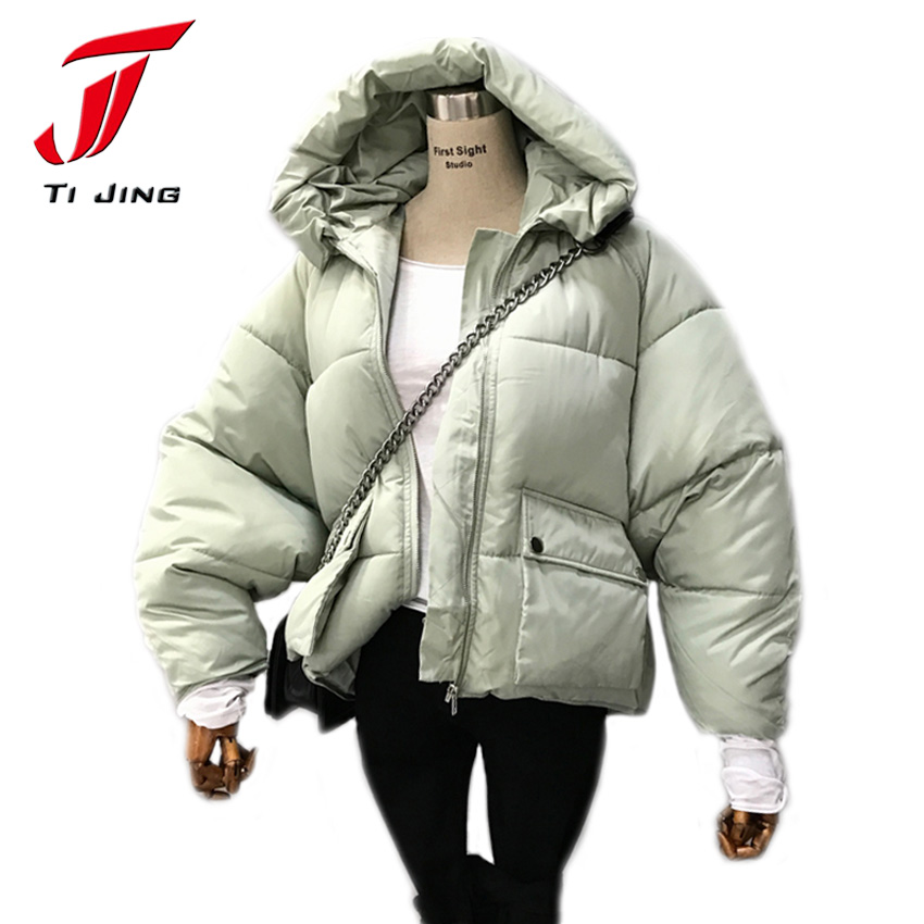 Cotton Padded Winter Jacket Women Parkas 2017 Thick Warm Hooded Womens Winter Jacket Coat Female Black Orange Jacket B5458Îäåæäà è àêñåññóàðû<br><br>