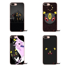 Apple iPhone X 4 4S 5 5S SE 5C 6 6S 7 8 Plus 6sPlus 6Plus 7plus 8plus Silicone Case Cover cute cartoon anime Pokemon umbreon