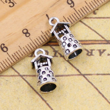 10pcs Charms 3D ancient well 17*9*8mm Tibetan Silver Plated Pendants Antique Jewelry Making DIY Handmade Craft