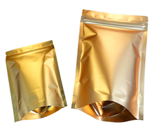 Gold Standing Up Pouch Zipper Packaging Plastic Ziplock Bags for Cereals Nuts Powder Cookies Coffee Bags
