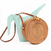Buy 2018 Round Straw Bags Women Summer Rattan Bag Handmade Woven Beach Cross Body Bag Circle Bohemia Handbag Bali for $6.29 in AliExpress store