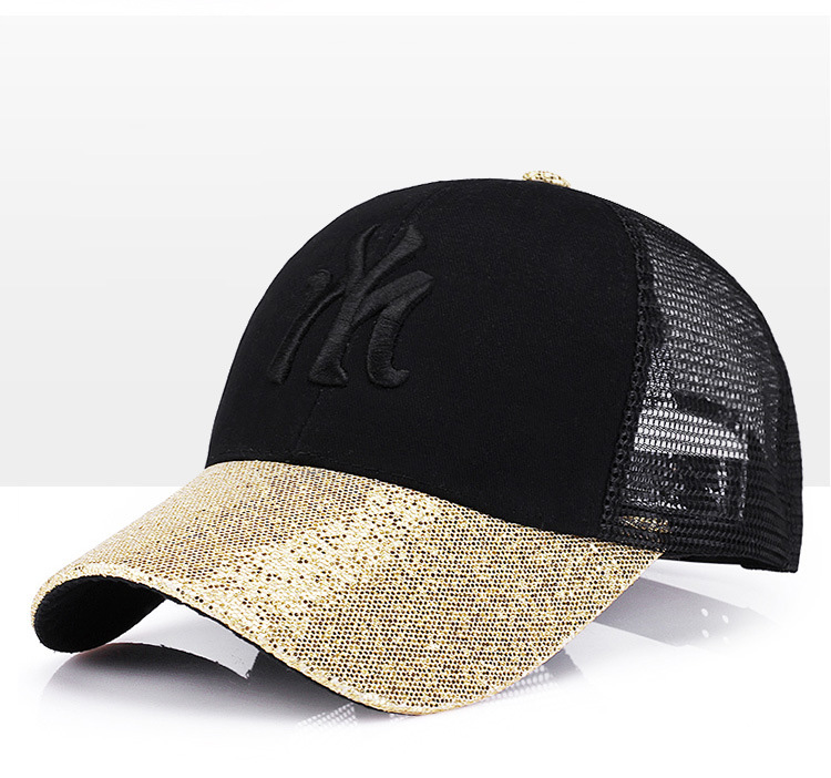 [Rancyword] 17 New Branded Baseball Caps Canada Women's Cap With Mesh Bone Hip Hop Lady Embroidery Hats Sequins RC1134 7