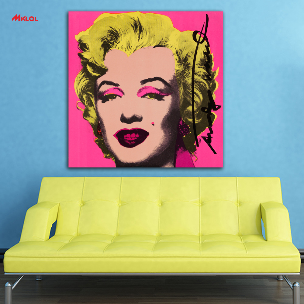 art Marilyn Monroe Oil Painting Wall Art Picture Paiting Canvas ...