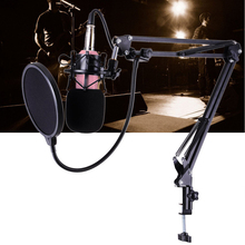 BM-700 Professional Wired Studio Microphone Sound Recording Broadcasting Condenser Microphones KTV Mic+ Shock Mount Anti