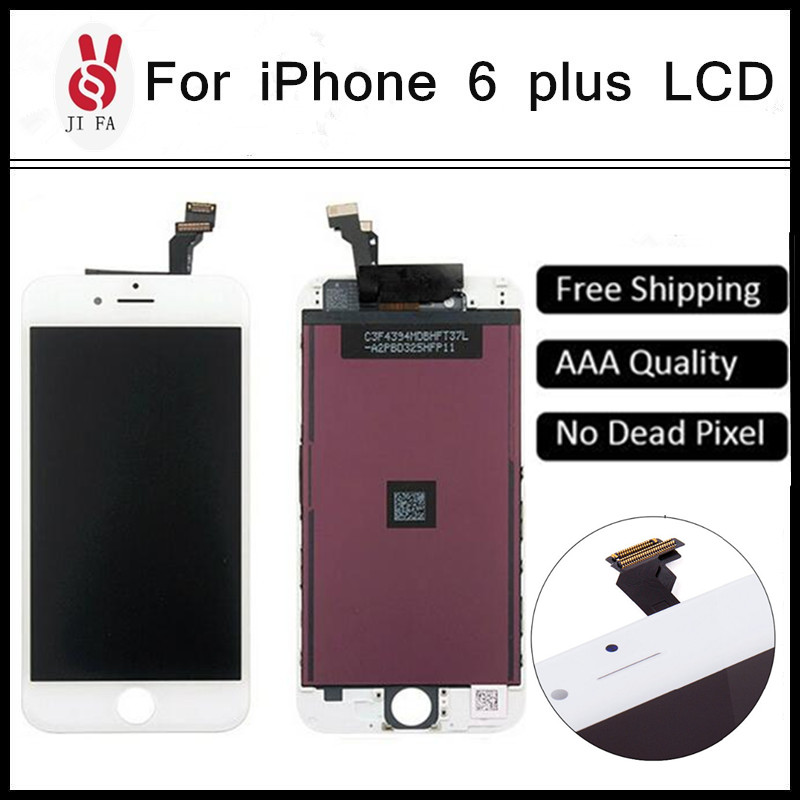 10pcs / pack 100% No Dead Pixel for IPhone 6 Plus LCD 5.5 Display Touch Screen Digitizer Assembly Replacement Black or White<br><br>Aliexpress