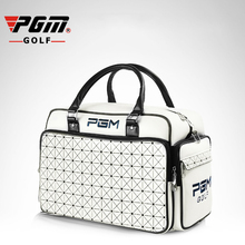 PGM Women's Golf Clothing Bag Waterproof PU Leather High Capacity Wearable Double Layer Brand Golf Shoes Bag For Women Handbag(China)
